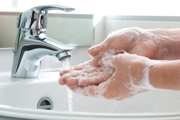 Restaurant Cleaning, clean hands